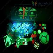 Glow in the dark,  luminous,  fluorescent,  invisible UV light paints.
